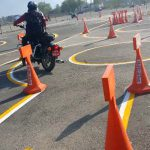 Trail Test for Getting Motorcycle Driving License 2015